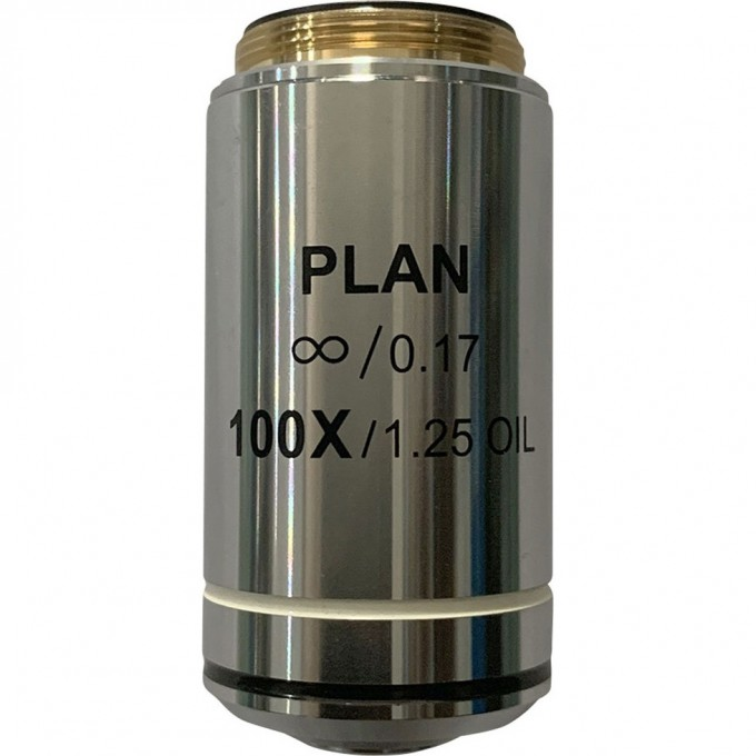 Объектив планахроматический LEVENHUK MED 100x/беск 76079