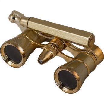 Бинокль LEVENHUK BROADWAY 325N лорнет с подсветкой золотой