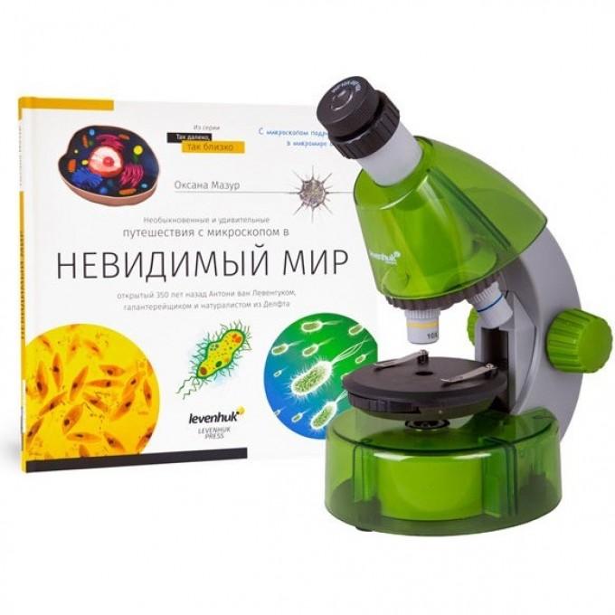 Набор LEVENHUK LabZZ MV1: микроскоп и книга 73707
